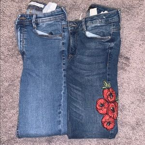 Two pair of Zara Women's Jeans